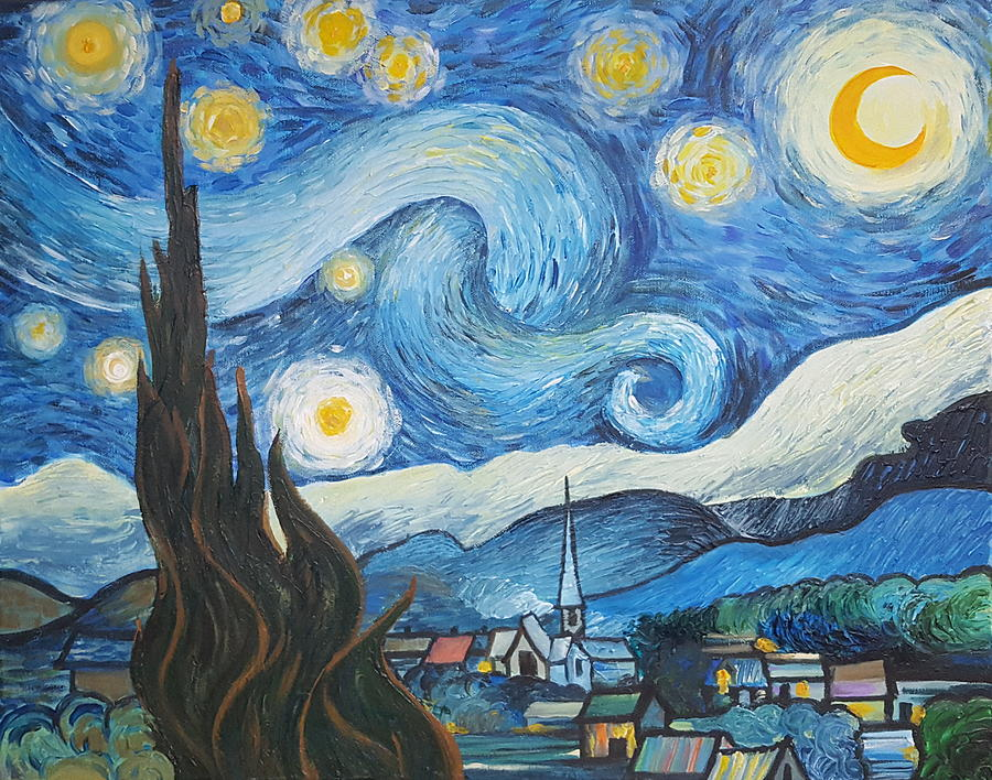Reproduction Of Van Gogh's Starry Night Painting