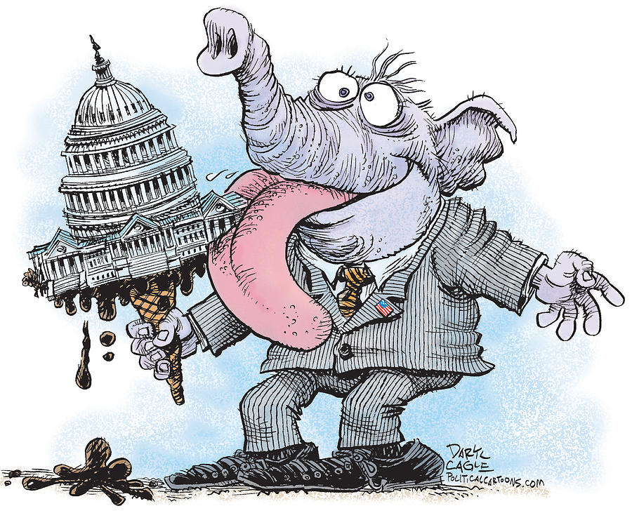 Republicans Lick Congress by Daryl Cagle