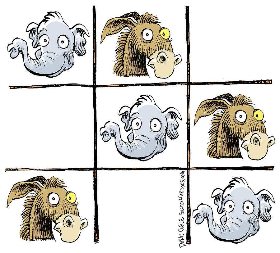 Republicans Win Tic Tac Toe by Daryl Cagle