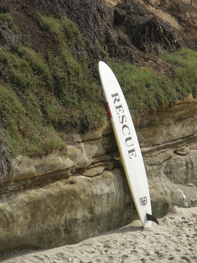 Surfing Photograph - Rescue Me by Richard Mansfield