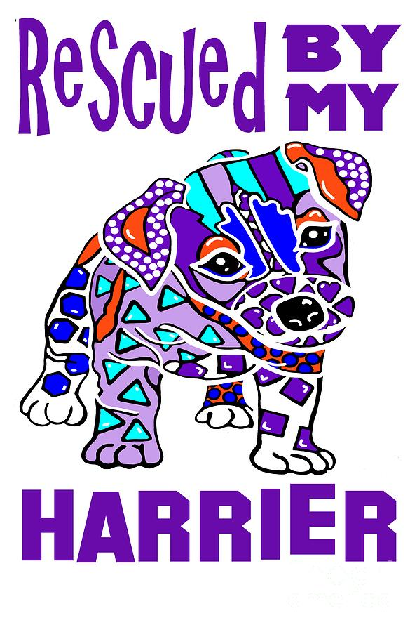 Rescued By My Harrier Dog Dogs Puppy by Jackie Carpenter