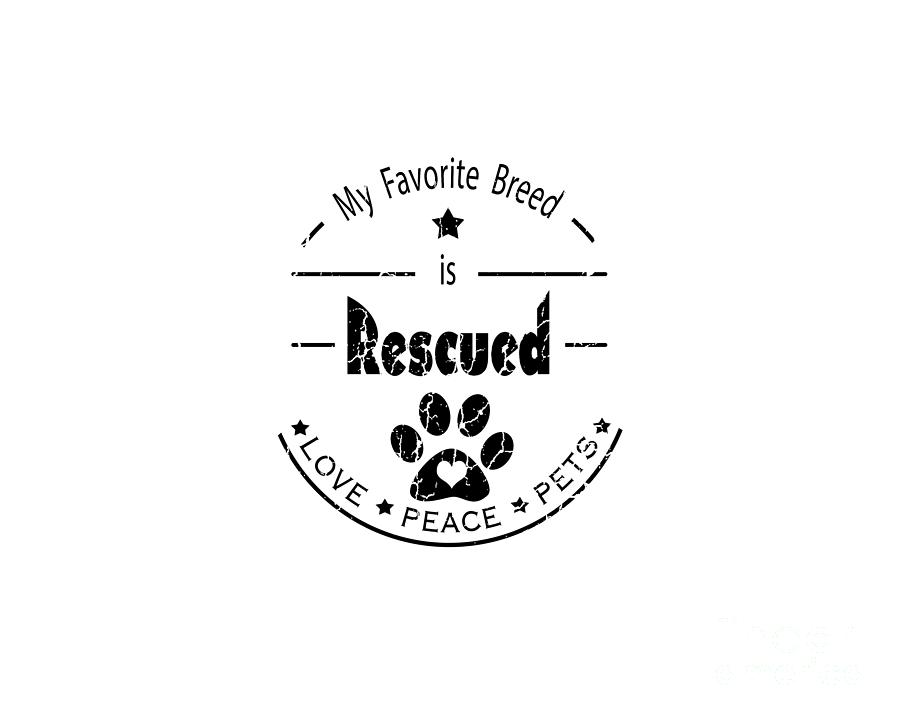 Rescue Digital Art - Rescued Love Peace Pets by Tim Wemple