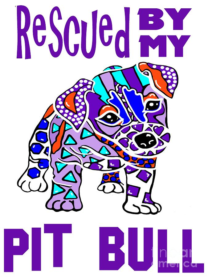 Rescued My Pit Bull Dog Dogs Hound Shepherd Terrier Retriever Pet Owner Gift Best Seller Family A by Jackie Carpenter