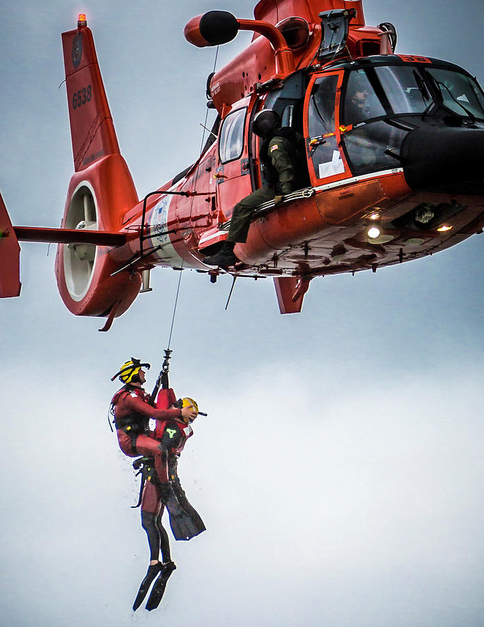 Rescuer and Victim in Hoist by Gregory Daley  MPSA