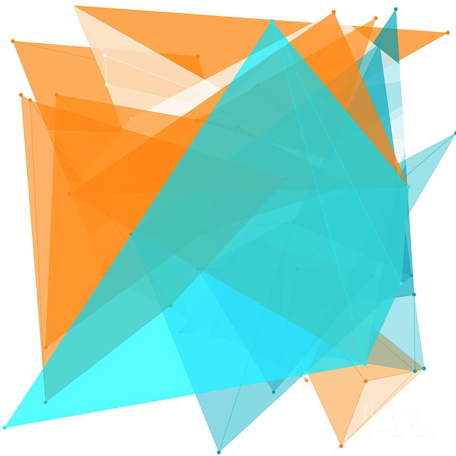 Abstract Digital Art - Research Polygon Pattern by Frank Ramspott