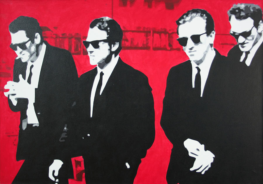 Reservoir Dogs Painting - Reservoir Dogs 2013 by Luis Ludzska