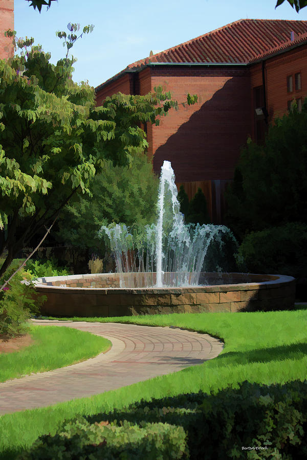 Fountain Photograph - Resident Fountain by Roberta Byram