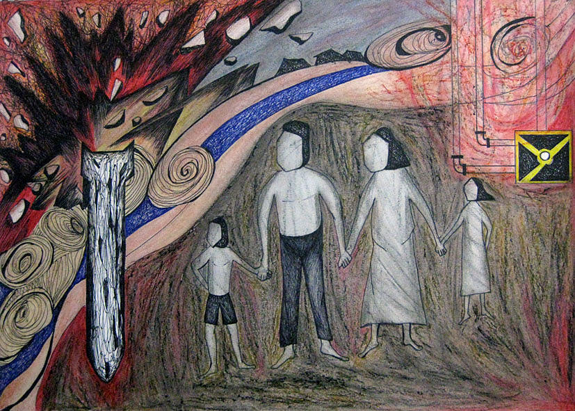Resilient Families  Drawing by Bayu Cahayahari