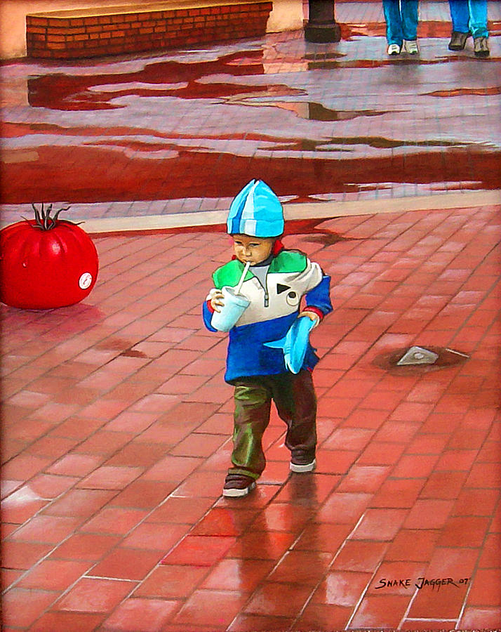 Kid Painting - Resolute by Snake Jagger