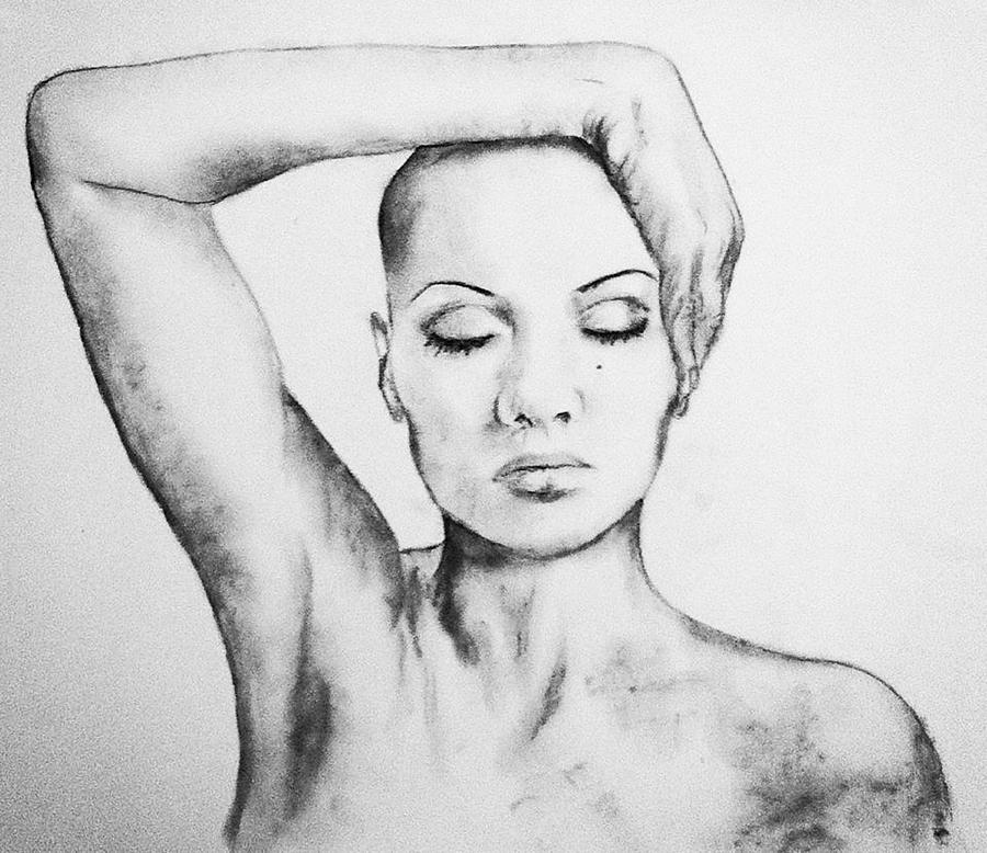 Breast Cancer Drawing - Resonate by Courtney James