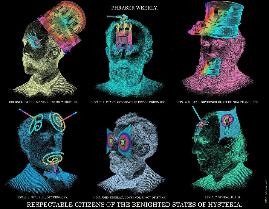 Headgear Digital Art - Respectable Citizens Of Our Republic by Eric Edelman