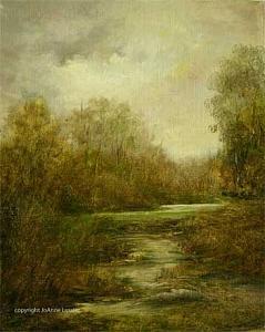 Tonalism Painting - Respite by JoAnne Lussier