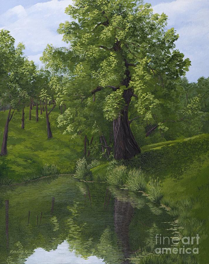 Cottonwood Tree Painting - Rest After The Storm by Kathleen Keller