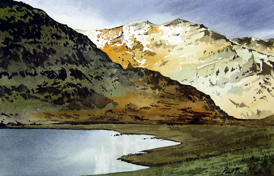 Watercolour Painting Painting - Rest And Be Thankful Pass by Paul Dene Marlor