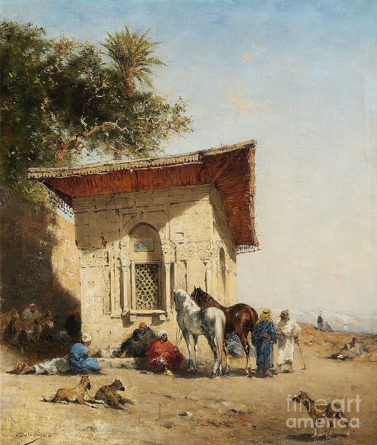 Horses Painting - Rest By The Oasis by Celestial Images