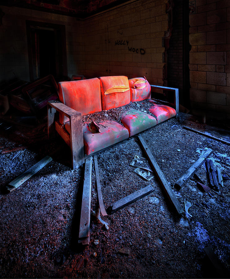 Couch Photograph - Rest In Pieces by Evelina Kremsdorf