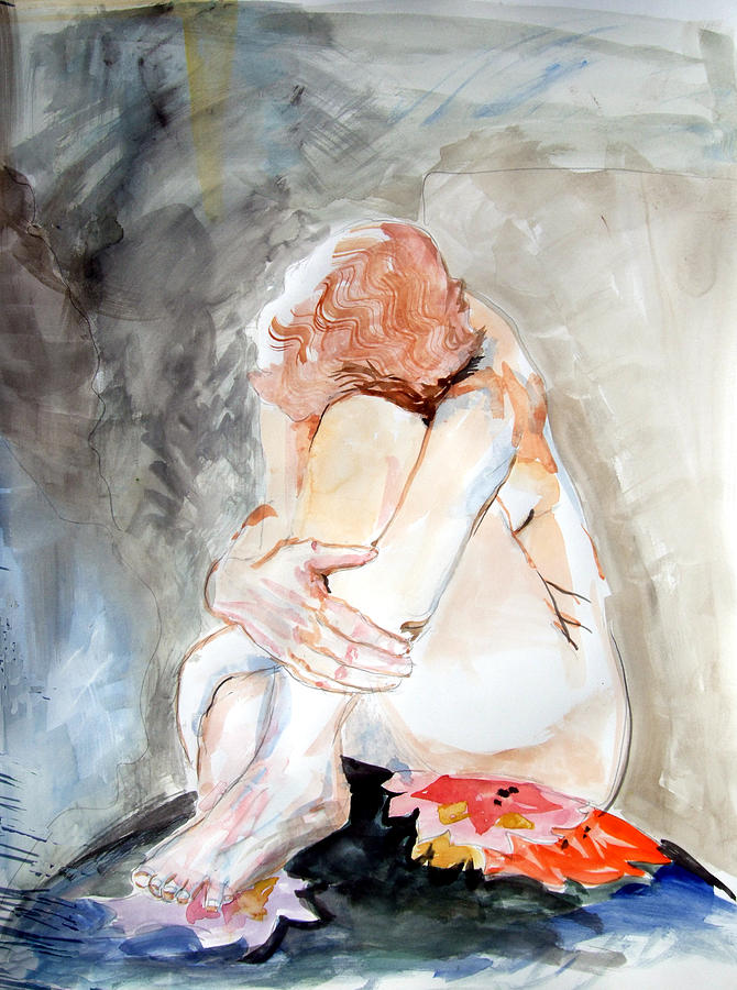 Girl Painting - Rest by Mindy Newman