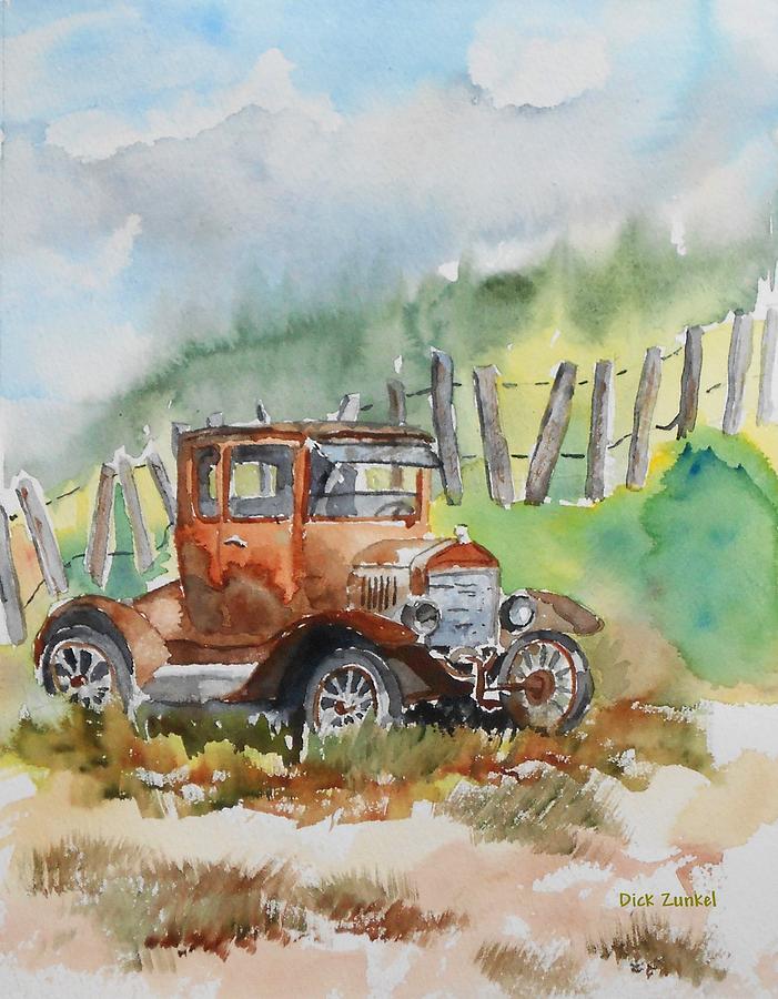 Model T Painting - Rest Stop by Richard Zunkel