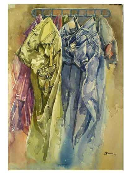 Rest Painting by Suman Sarkar