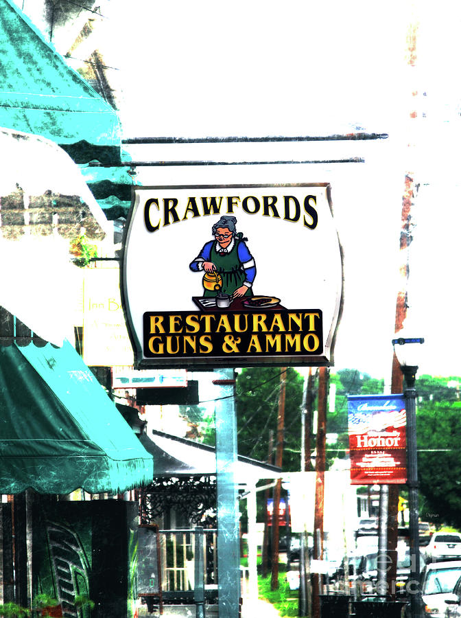 Restaurant Photograph - Restaurant Guns And  Ammo  by Steven Digman