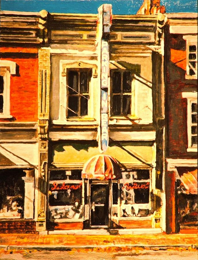 City Scene Painting - Restaurant II by Thomas Akers