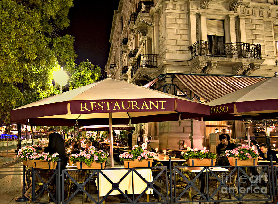 Restaurant Photograph - Restaurant In Budapest by Madeline Ellis