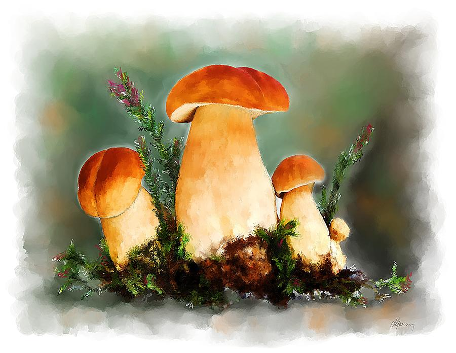 Cepes Painting - Restaurant Menu Illustration by Michael Greenaway
