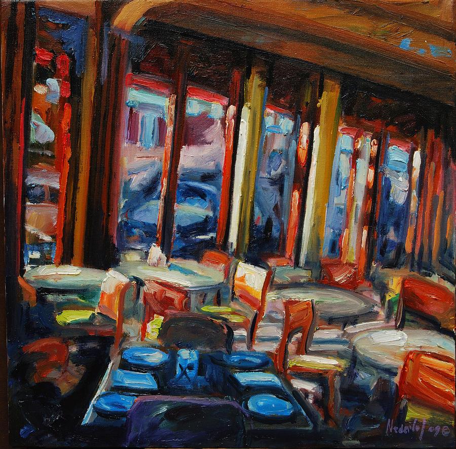 Cityscape Painting - Restaurant On Columbus by Rick Nederlof