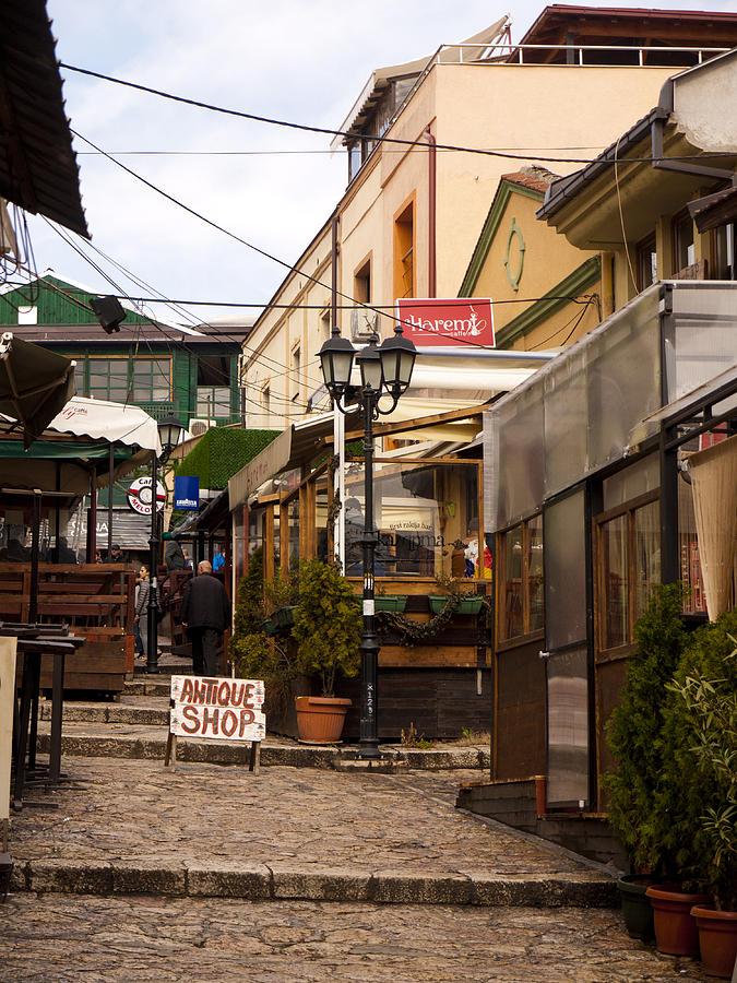Skopje Photograph - Restaurants In The Bazaar by Rae Tucker