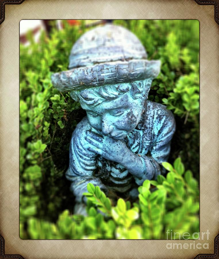 Gnome Photograph - Restful Moment In The Garden by S Forte Designs
