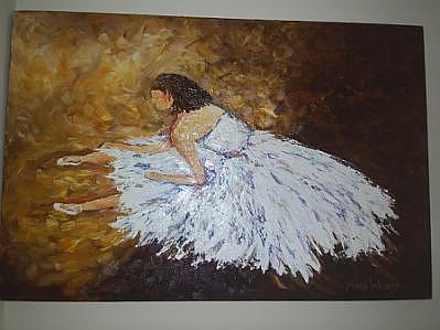 Resting Ballerina Painting by Margi Weyers