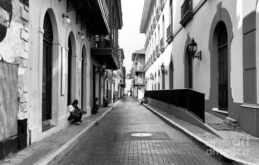 People Photograph - Resting In Casco Viejo Mono by John Rizzuto
