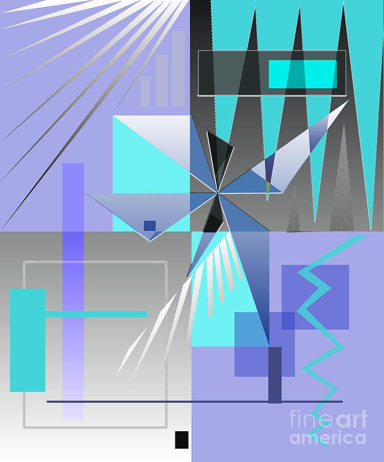 Abstract Digital Art - Restless Night - I by Jo Baby
