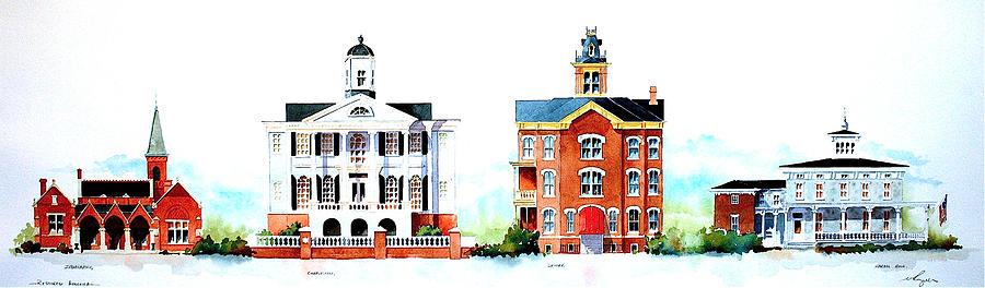 Architecture Painting - Restored America 15x45 by William Renzulli