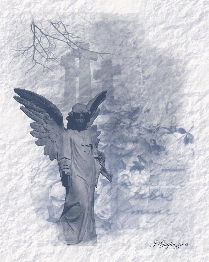 Angel Digital Art - Resurrection Angel by Jean Gugliuzza