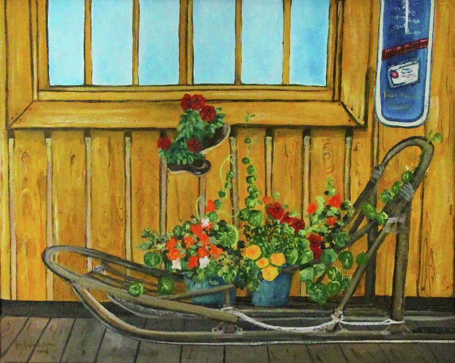 Dog Sled Painting - Retired by Amy Reisland-Speer