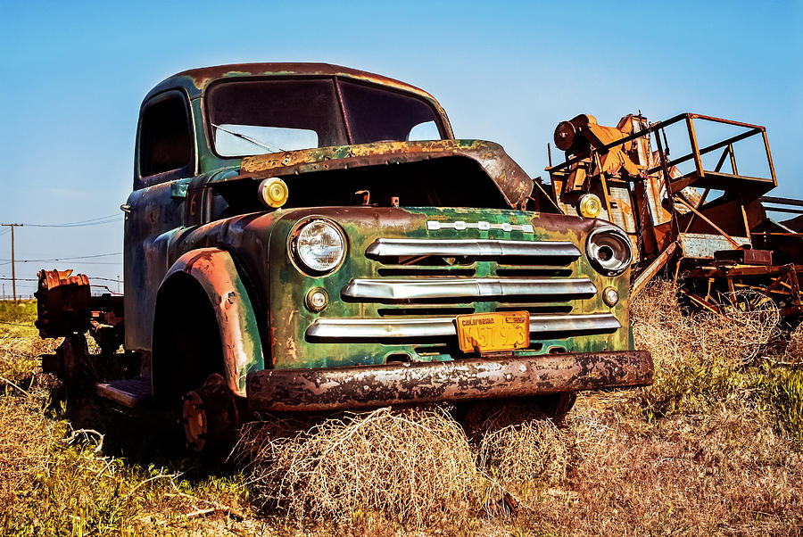 Old Dodge Truck Photograph - Retired by Aron Kearney