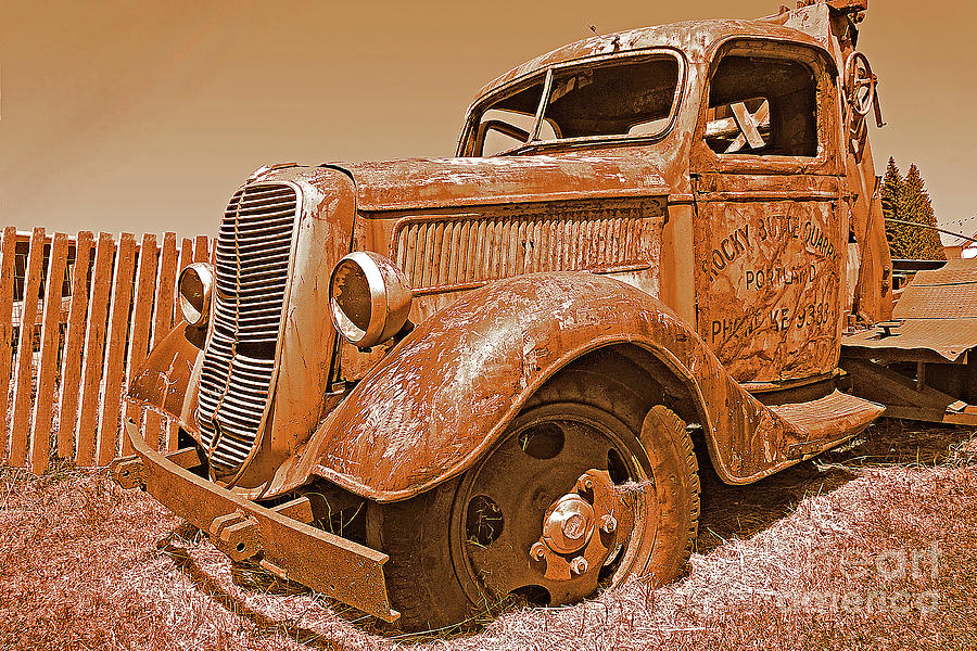 Oregon Photograph - Retired Ford Truck by Rich Walter