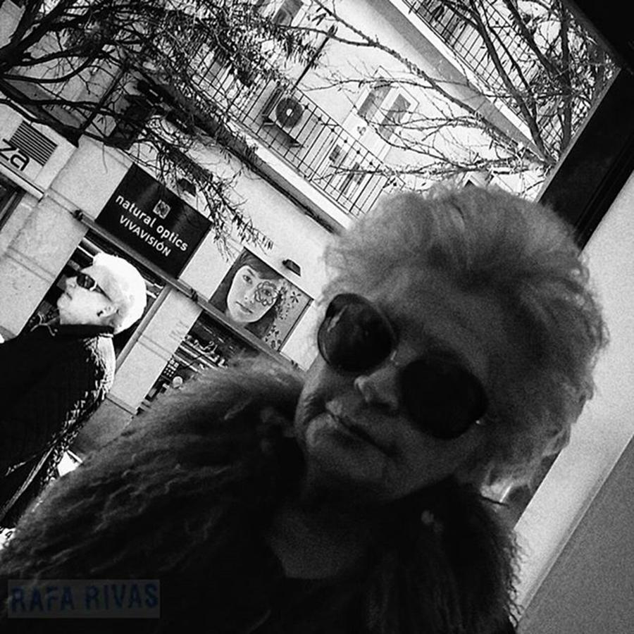 Blackandwhite Photograph - Retired Spies  #woman #people by Rafa Rivas