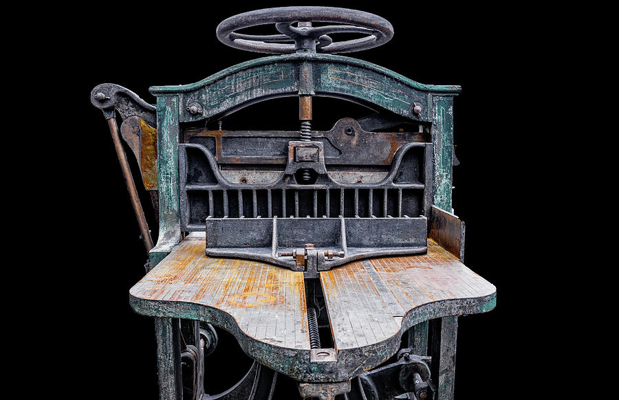 Antiques Photograph - Retired Table Saw by Joseph Sassone