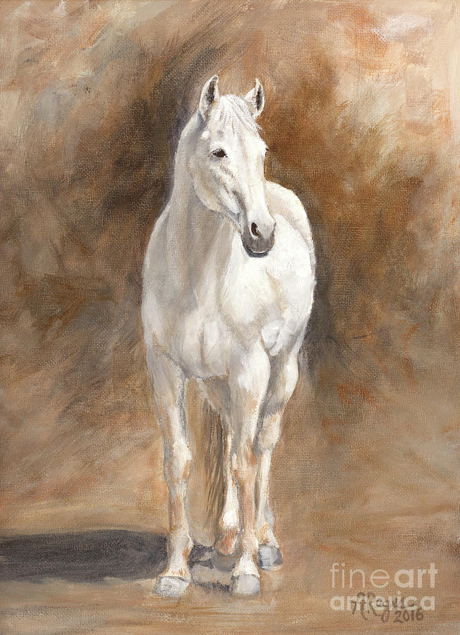 Retired Thoroughbred Race Horse Rustic by Amy Reges