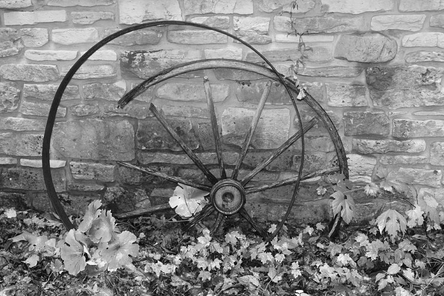 Wagon Wheel Photograph - Retired Wheel by Lauri Novak