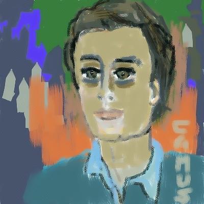Paint Painting - Retrato De Mi Hijo Carlos by Carlos Camus