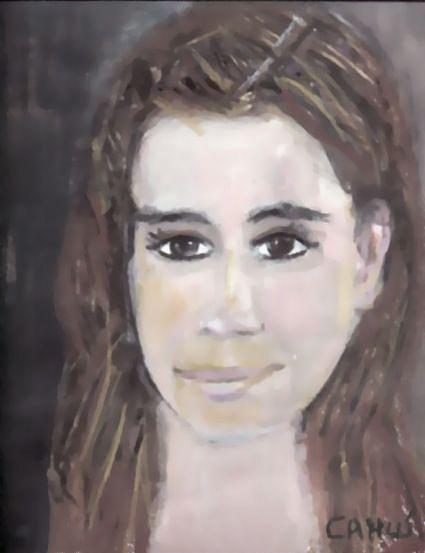 Paint Painting - Retrato Francisca Errazuriz- Chile by Carlos Camus