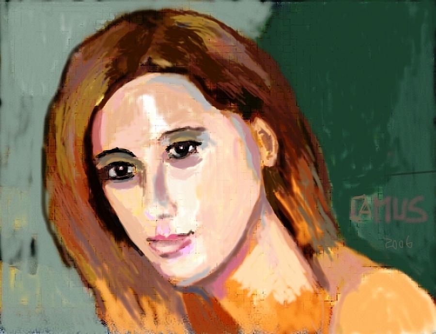 Paint Painting - Retrato Patricia by Carlos Camus