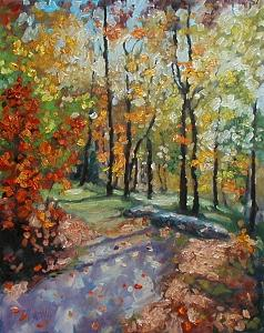 Autumn Painting - Retreat by Kathy Busillo