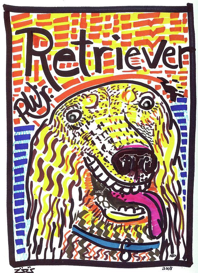 Rwjr Painting - Retriever by Robert Wolverton Jr