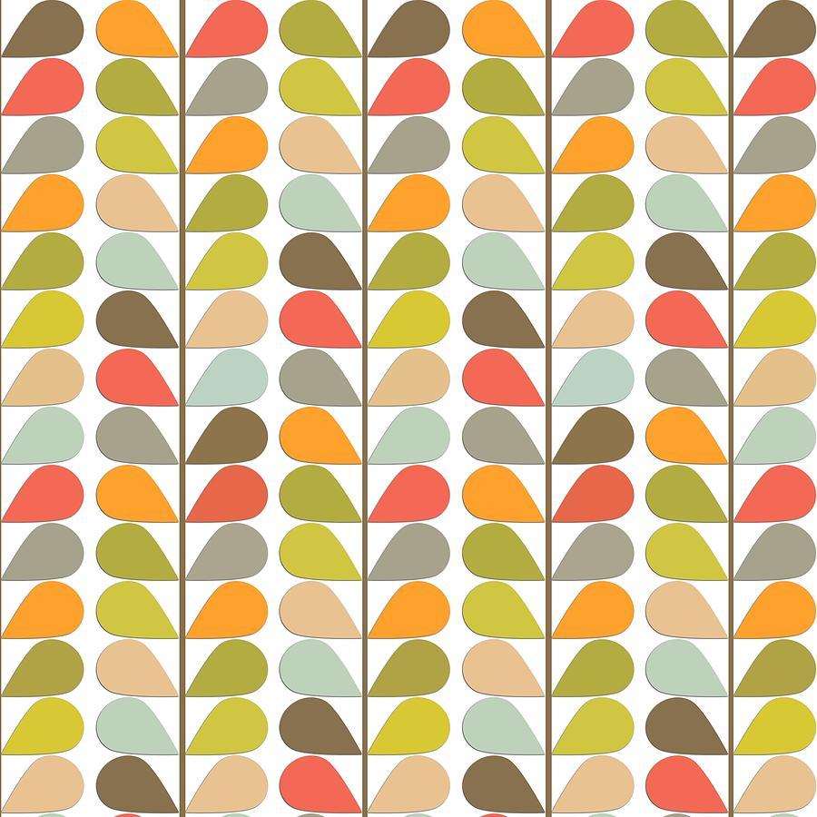 Retro 60s Midcentury Modern Pattern Digital Art By Lea Hollingsworth