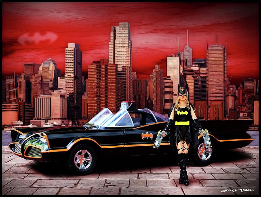 Bat Woman Photograph - Retro Bat Woman by Jon Volden