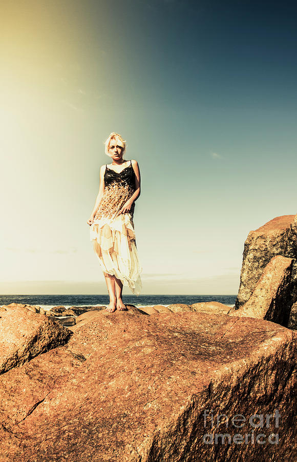 Retro Photograph - Retro Beach Fashions by Jorgo Photography - Wall Art Gallery